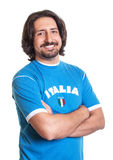 Sports fan from Italy with crossed arms Royalty Free Stock Photos