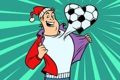 Sports fan loves football stock illustration