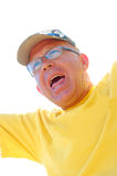 Sports fan man Stock Photo