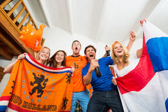 Sports fans excitement Royalty Free Stock Images