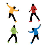 Sports fashion silhouettes Stock Image
