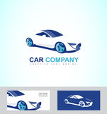 Sports fast race car logo Stock Image