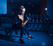 Sports female workout in gym Royalty Free Stock Photography