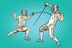 The sports fencing on swords Stock Image