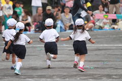 Sports festival at kindergarten Stock Photos