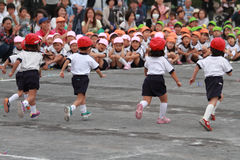 Sports festival at kindergarten Royalty Free Stock Photography