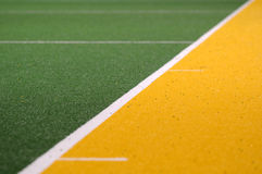 Sports Field. Astro turf artificial grass playing field Royalty Free Stock Images