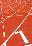 Sports field. Running track with number Stock Images