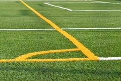 Sports Field. Lines on a turf sports field stock image