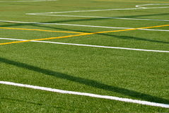 Sports Field. Lines on a turf sports field stock photography