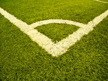 Sports field artificial grass ,corner Royalty Free Stock Photos