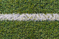Sports field with artificial grass and white markings copy spac. Top view of sports field with artificial grass and white markings texture, background, copy Royalty Free Stock Photos