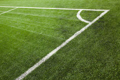 Sports field corner marking Royalty Free Stock Images