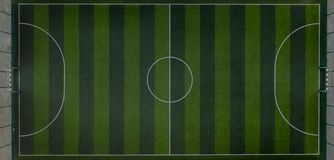 Sports field with a football field. Shooting from the drone from above