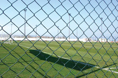 Sports Field Safety Chain Link Fence Royalty Free Stock Images