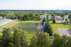 Sports field. Is located in the city stock image