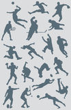 Sports Figure Vector Collection 2. A collection of vector sports figures created in Adobe Illustrator. The various sports represented in this illustration Stock Images