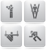 Sports figures Stock Images