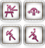 Sports figures Royalty Free Stock Image