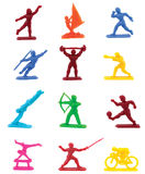Sports figurines Stock Photos