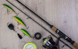 Sports fishing background stock photography