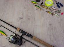 Sports fishing background stock image