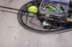 Sports fishing background royalty free stock photography
