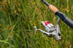 Sports Fishing Pole Rod Reel Royalty Free Stock Images