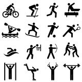 Sports, fitness, activity and exercise icons Royalty Free Stock Images
