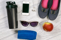 Sports and fitness background stock photos