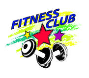 Sports and fitness club logo royalty free illustration