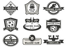 Sports and fitness emblem Stock Image