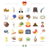 Sports, fitness, finance and other web icon in cartoon style.cooking, travel, drug icons in set collection. Stock Photography