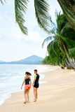 Sports, Fitness. Fit Couple Walking After Running.  Athletics, E Royalty Free Stock Image