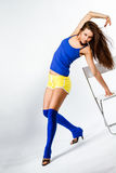 Sports fitness girl Royalty Free Stock Image
