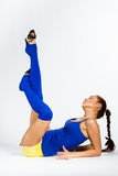 Sports fitness girl Stock Photography