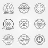 Sports and fitness logo emblem graphics set Stock Image