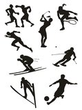 Sports and Fitness Silhouettes Royalty Free Stock Image