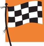 Sports flag. On orange back ground Royalty Free Stock Images