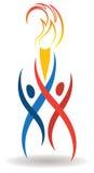 Sports Flame Logo Stock Image