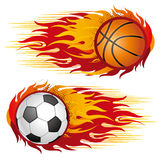 sports with flames Royalty Free Stock Image