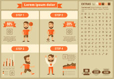 Sports flat design Infographic Template Stock Photography