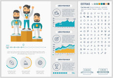 Sports flat design Infographic Template Stock Images