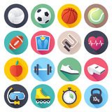 Sports Flat Icon Set Stock Photos