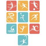 Sports flat icon set Stock Photography