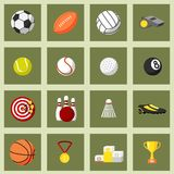 Sports Flat Icons Set Stock Images