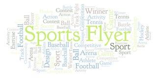 Sports Flyer word cloud. vector illustration