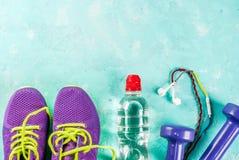 Sports, fond de concept de forme physique Images stock