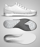 Sports footwear design Stock Photography