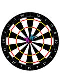 Sports game. On accuracy on a white background Royalty Free Stock Photos